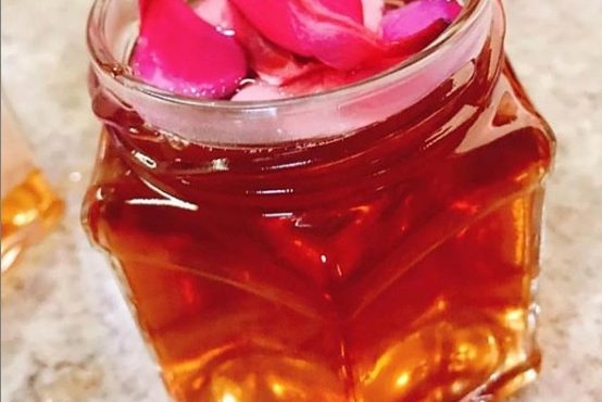 Geléia orgânica de rosas